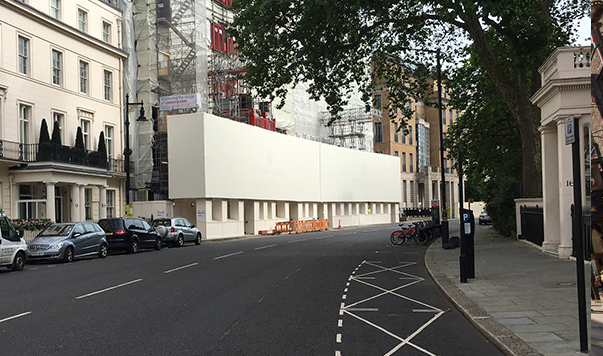 solid PVC printed building wrap in London by Lavastar
