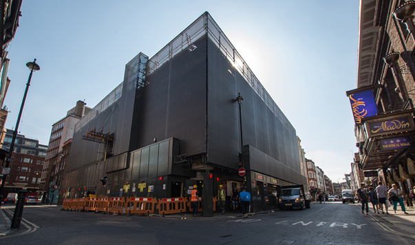 printed mesh pic building wraps by Lavastar for Soho House