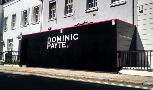 Hoarding design and print in gloss black