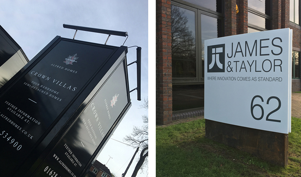 Bespoke totem signs and monoliths