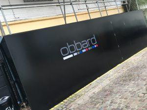 Black hoarding design