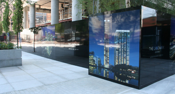 Hoarding graphics and design around London
