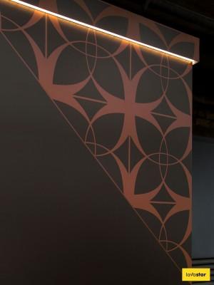 Illuminated Trim on Bespoke Hoarding