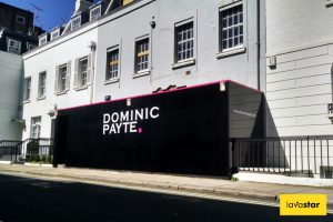 Gloss Black Hoarding Design In Knightsbridge