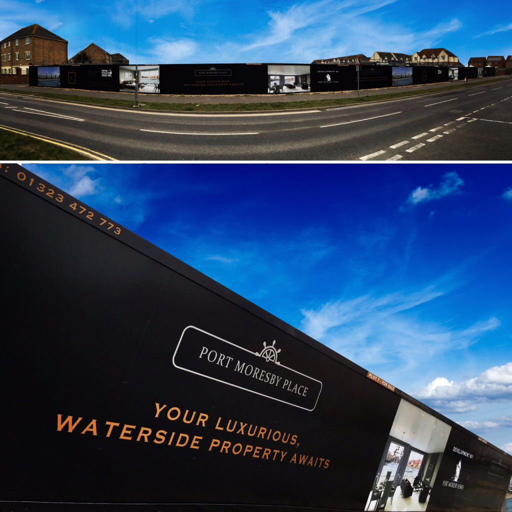 Gallery hoarding building wrap and signage ideas lavastar for Remodel plans