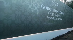 Underlit Bespoke Hoarding Weybridge