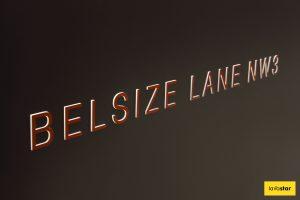 3D Push Through Illuminated Hoarding Design