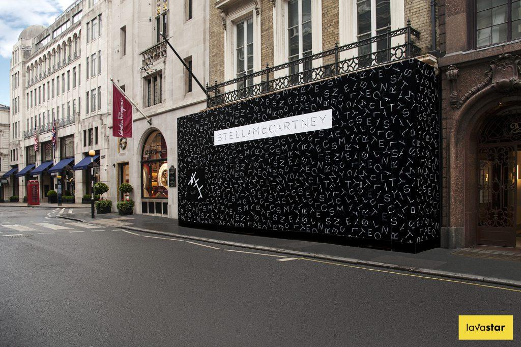 Retail printed hoarding london