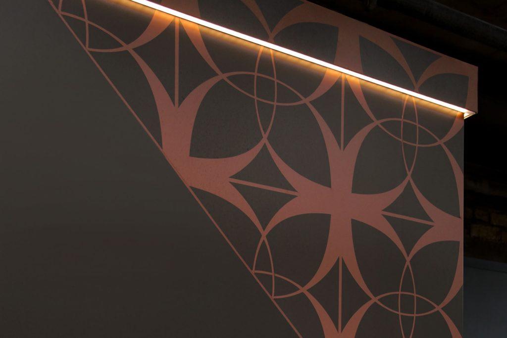 Hidden LED hoarding trim