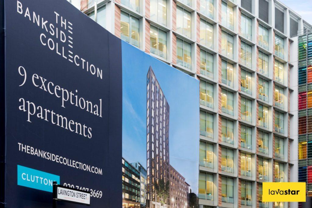 Solid PVC wrap on London Development